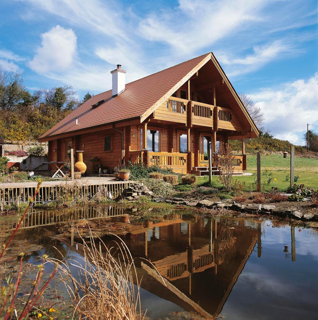 Wonderful image of Log Cabin Ireland Self Build 2.jpg with #2B66A0 color and 1024x1030 pixels